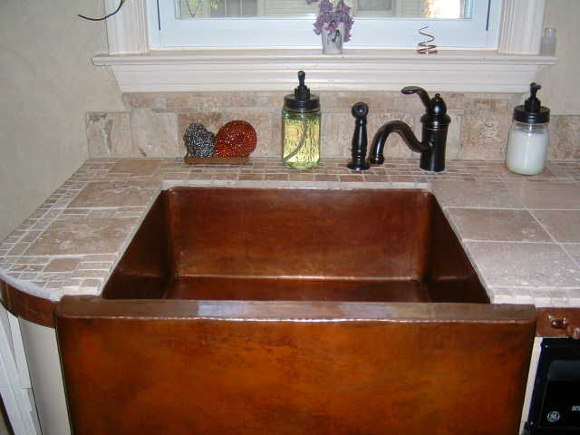 Farmhouse Copper Sink Closeup, Mexican Home Decor Projects Gallery