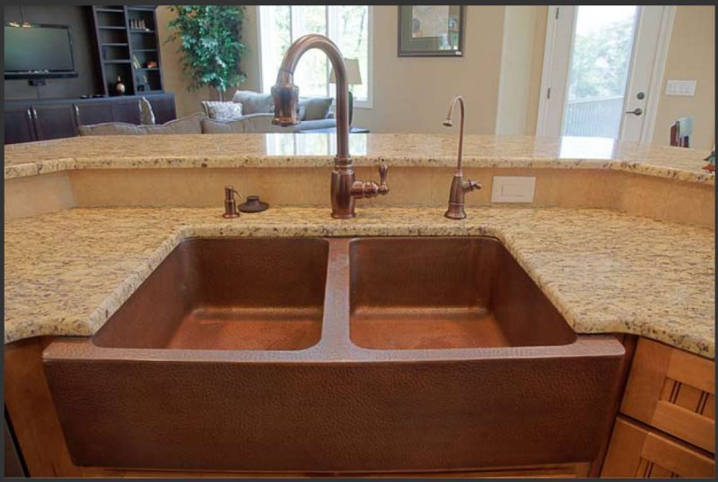 Farmhouse Double Well Copper Sink Ozarks House Mexican