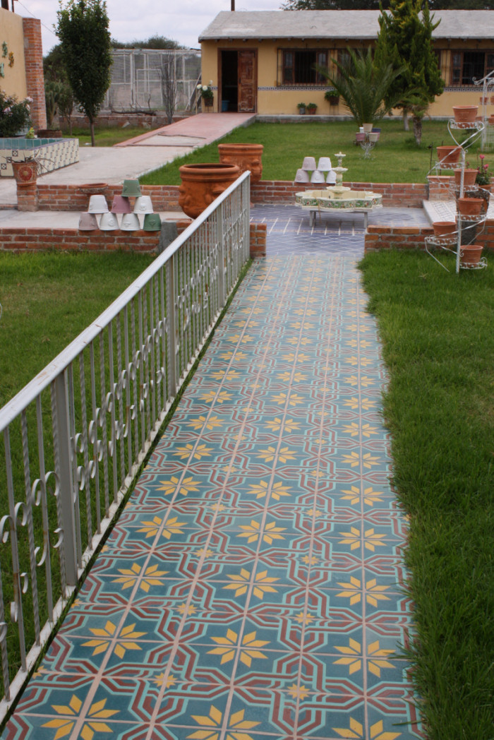 Ceramic Mexican Floor Tile Shown In A Walkway Home Decor Projects Gallery