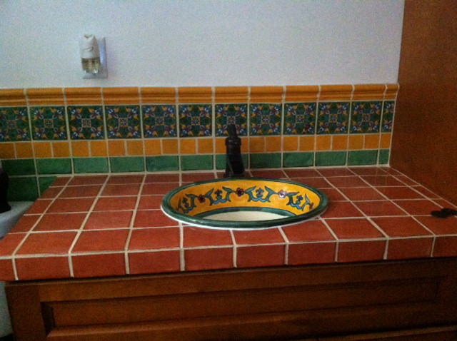 Beau Yellow Liz Mexican Sink In Tile Countertop, Mexican Home Decor Projects  Gallery