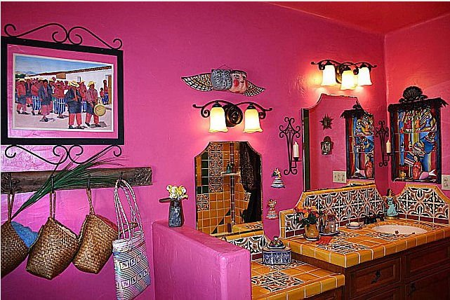 Mexican bathroom styles for Mexican home decorations