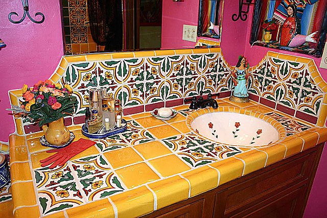 Tiled Countertop Vanity Mexican Home Decor Projects Gallery