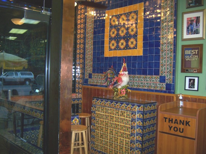 Mexican Tile By The Wating Area In A Restaurant