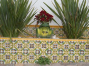 Mexican Tile In The Garden