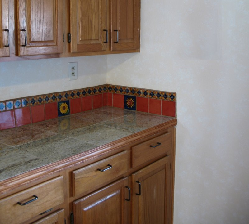 Mexican Tile Liner Backsplash, Mexican Home Decor Gallery. Mission