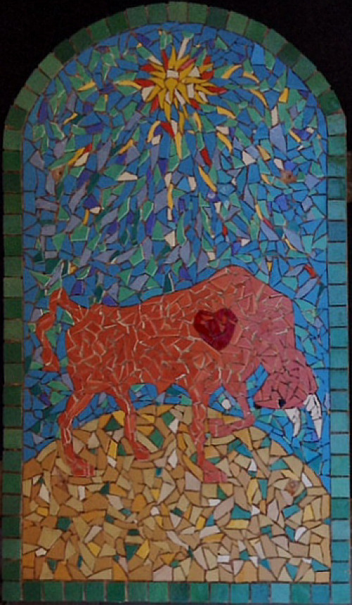 Bull Mexican Tile Mosaic By Steve Rand Mexican Home Decor