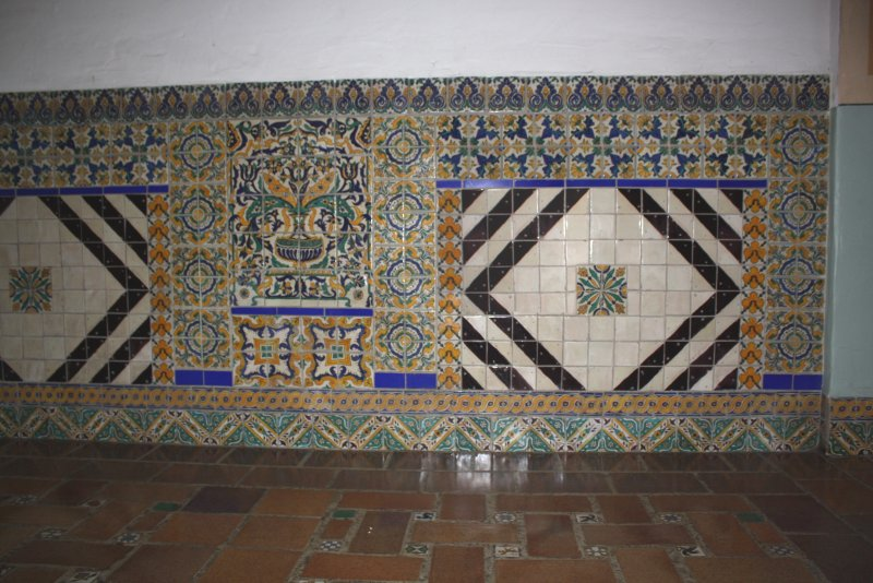 Tile Mural Embedded Into A Wall Mexican Home Decor