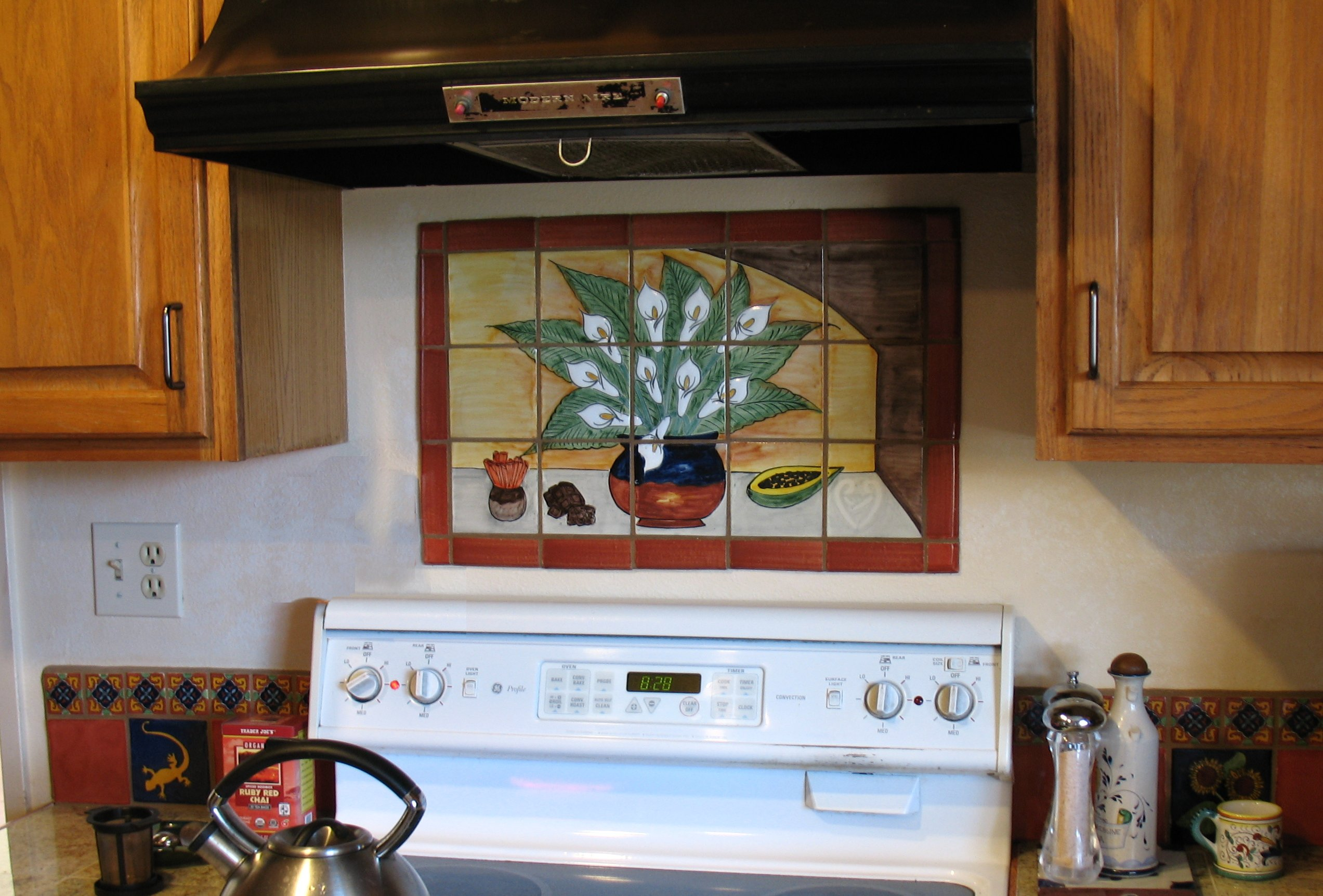 Mexican Tile Mural Backsplash