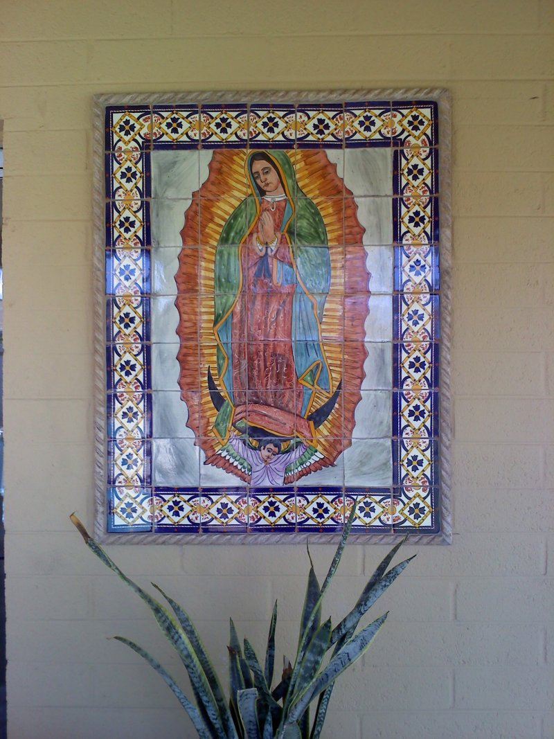 Our Lady Virgen De Guadalupe Mexican Tile Mural Mexican