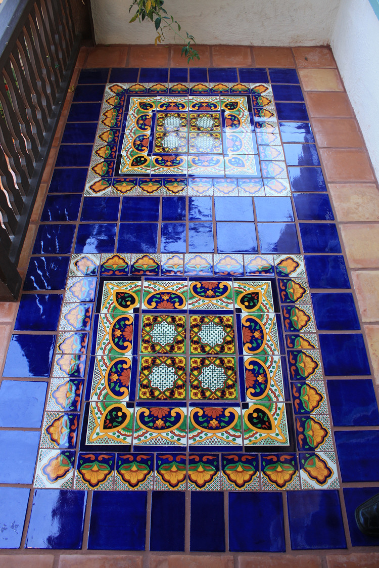Mexican floor tile along mexican decorative tile mexican for Art for house decoration