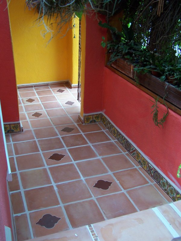 Inserts Into Saltillo Floor Tile And Mexican Decorative Tile