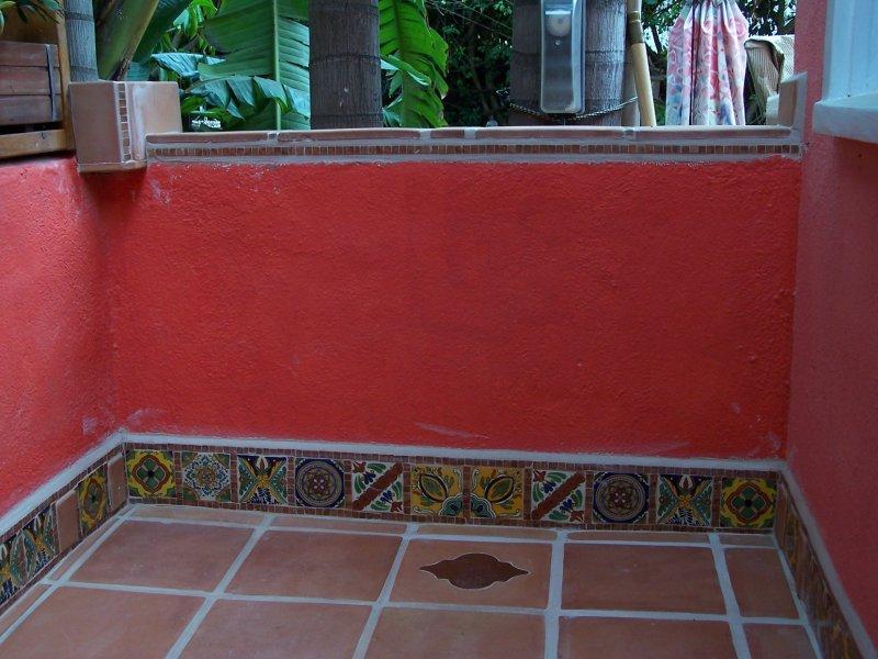 Saltillo Floor Tile Along Decorative Mexican Tile Mexican Home