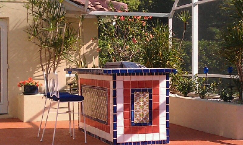 Mexican Tile In The Bbq Area Mexican Home Decor Gallery
