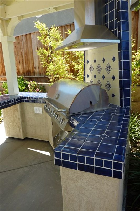 Mexican Tile BBQ Top Side View, Mexican Home Decor Gallery ...