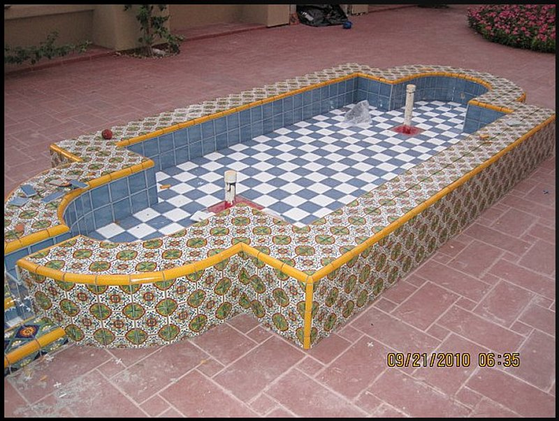 Mexican Home Decor. Tile Combined With Talavera Tile Inserts .... Home and architecture design - home decor tile