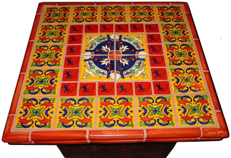 Captivating Mexican Tile Decorating A Table Top, Mexican Home Decor Projects Gallery