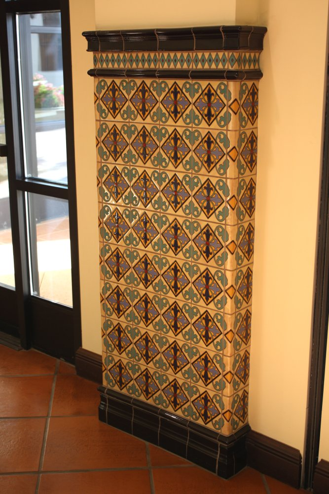 Ceramic Tiled Column Mexican Home Decor Gallery Mission