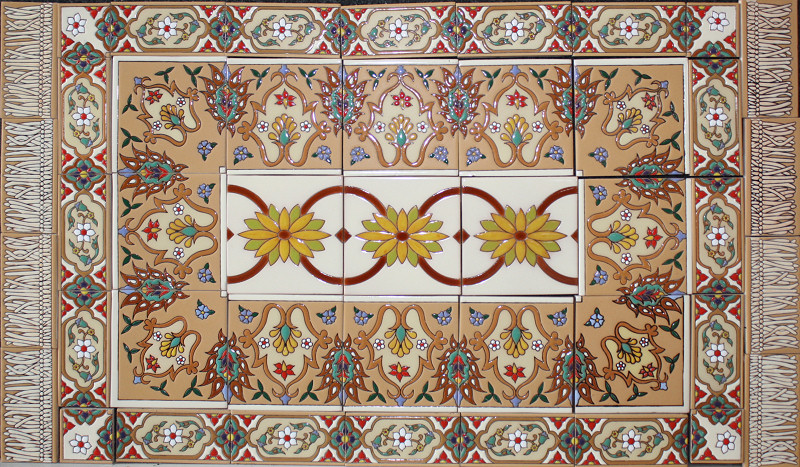 Barcelona Mexican Tile Rug Malibu Style Mexican Home Decor Gallery Mission Accesories Copper