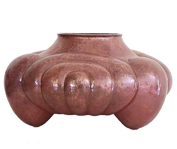 Arts & Crafts Horseshoe Copper Vase