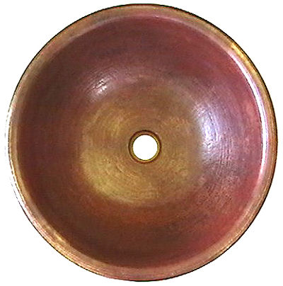 Hammered Round Natural Bathroom Copper Sink