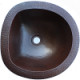 Undermount D-Shaped Hammered Bathroom Copper Sink