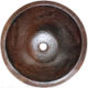 Undermount Hammered Round Lizard Bathroom Copper Sink