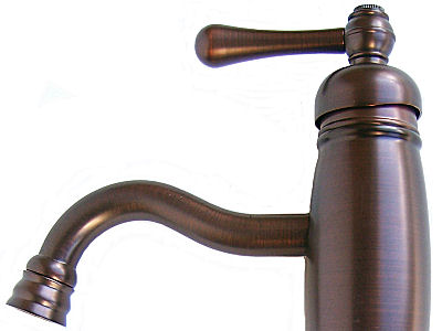 Oil Rubbed Bronze Bathroom Vessel Faucet. D225057RB. Close-Up