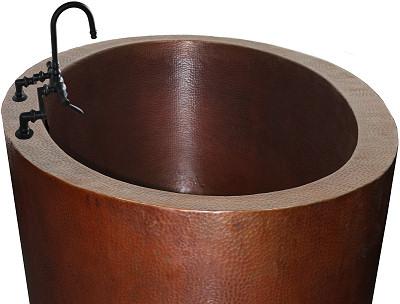 Oil Rubbed Bronze Deck Mount Bathtub Faucet - F345H-ABIOC