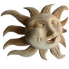 Medium Natural Carved Wood Sunface