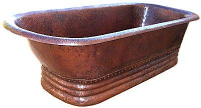 Small Hammered Copper Bath Tub