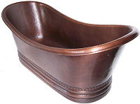 Queen Hammered Copper Bath Tub