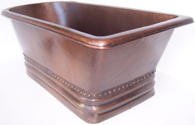 Terra Hammered Copper Tub
