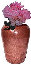 Van Erpe Tall Hammered Copper Vase