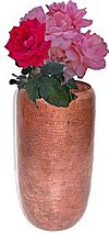 Classic Tall Hammered Copper Vase