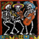 The Mariachi. Day-Of-The-Dead Clay Tile