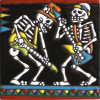 Jammin'. Day-Of-The-Dead Clay Tile