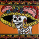 The Lady In Hat. Day-Of-The-Dead Clay Tile