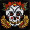 La Catrina Lovely Death. Day-Of-The-Dead Clay Tile