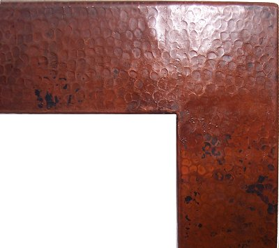 Huge Hammered Copper Mirror Close-Up