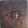 Snail II Hammered Copper Tile