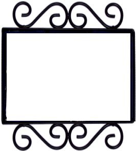 Wrought Iron House Number Frame Desert 2