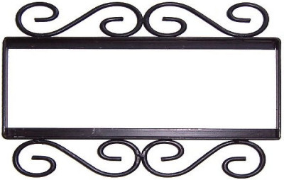 Wrought iron house number frame bouquet blue 3 for House number frames