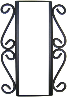 Wrought iron vertical house number frame hacienda 2 for House number frames