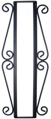 Wrought iron vertical house number frame desert 4 for House number frames