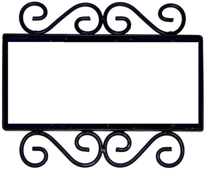 Wrought iron house number frame mission 3 for House number frames