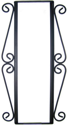 Wrought iron vertical house number frame colonial 3 for House number frames