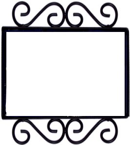 wrought iron house number frame hacienda 2 - Wrought Iron Picture Frames