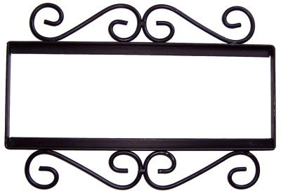 Wrought Iron House Number Frame Hacienda 4
