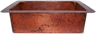 Natural Hammered Copper Kitchen Sink III