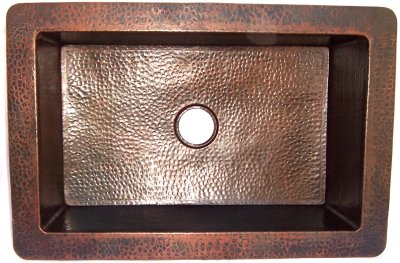 Hammered Copper Kitchen Sink IV